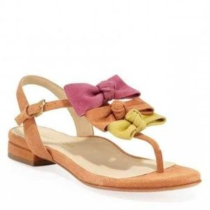 Taryn Rose Iliana Suede Multi-Color Bow Sandals