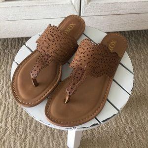 XOXO Laser Cut Sandals
