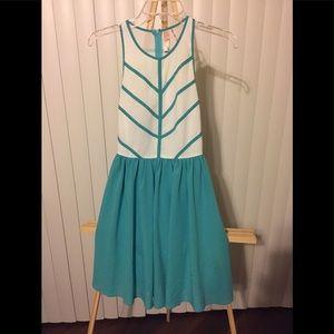Francesca's Collection Green & White Mini Dress