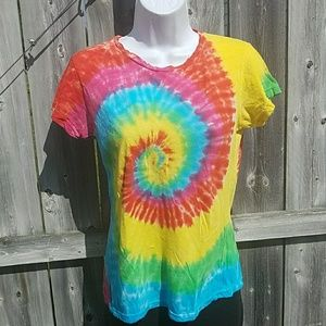 Tops - Bright and Groovy Tie Dye Tee