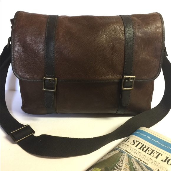 46d73f1157 Fossil Bags | Estate Ew Leather Messenger Bag Mbg9092 | Poshmark