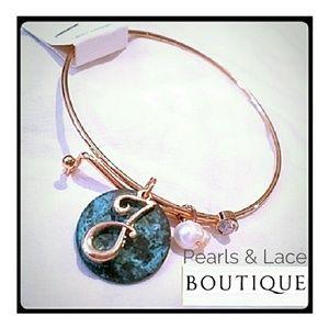 Jewelry - _J Monogram with charms Bracelet