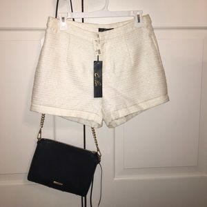 NWT Dressy white shorts with gold detailing