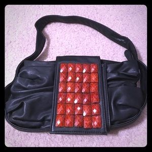 Handbags - Red Glittering Stone Handbag