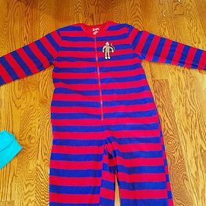 Other - Nick & Nora sock monkey feet pajamas