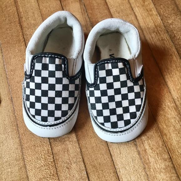 Baby Vans classic check crib shoes