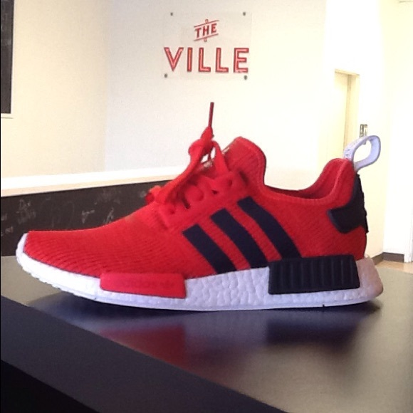 Adidas Shoes Red Nmd R1 Red Black And White Poshmark