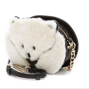 Auth Kate Spade ♠️ Polar Bear 🐻 Shearling Bag NWT