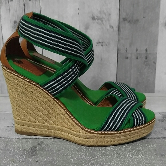 395895c2d4ff Tory Burch Adonis Strappy Wedge Sandals 10. M 598a30ed680278e404123648