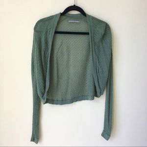 Sweaters - Olive Green Knit Crochet Sweater Cover Up Cardigan