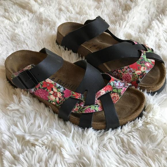 c1dda240c795 Birkenstock Shoes - Birkenstock Papillio Pisa Floral Black Sandals