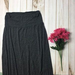 Gray Floor Length Maxi Skirt