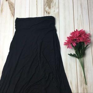 Black Floor Length Maxi Skirt