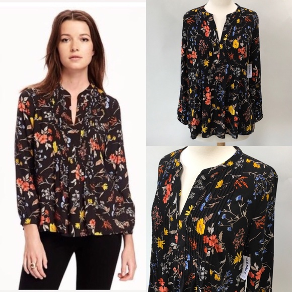 4064614a31eda Floral Pintuck Swing Top. NWT. Old Navy