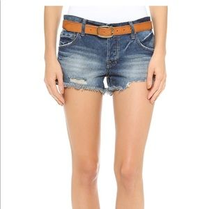 Free People Sharkbite Denim Cutoff Shorts