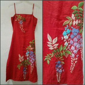 French Connection Vineyard Embroidered Sundress. S