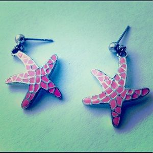 Sea Star Pink Earrings 💅🏻😍👣👙