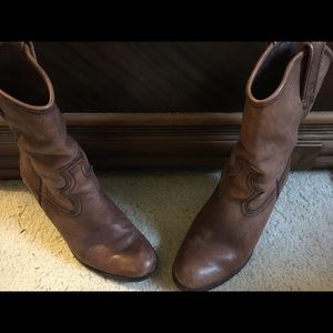 Lucky Brand Shoes - Lucky Brand short cowboy boots.  Size 6m