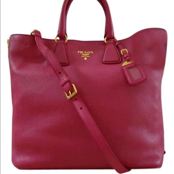 e3b97281ec3a Prada Vitello Daino Leather Large Shopping Tote. M 598a45f8fbf6f93c13127d27