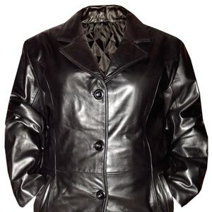 Leather Jacket Genuine Real Leather Womens Coat