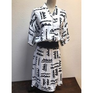 Nicole Miller Dresses - Vintage 80's Nicole Miller Dress Abstract Print