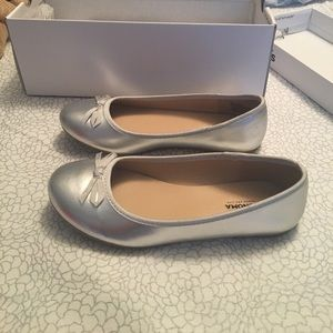 Other - Shoes Ballet flats silver girls size 2