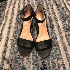 Sole Society black sandal heels