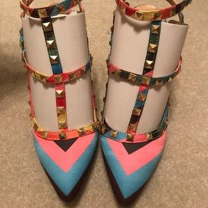 Wild Diva Multicolored Heels