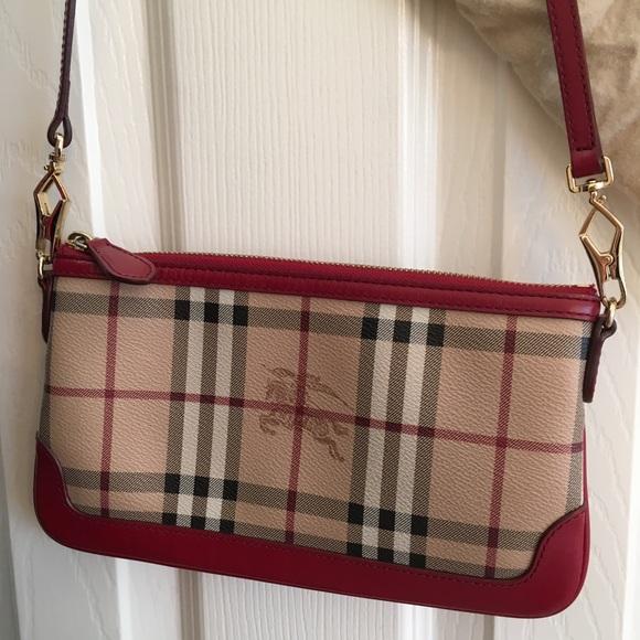 c3d42178a Burberry Bags | Haymarket Colours Peyton Wristlet | Poshmark