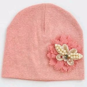 Other - New Toddler Peach Ornate Butterfly Beanie Hat