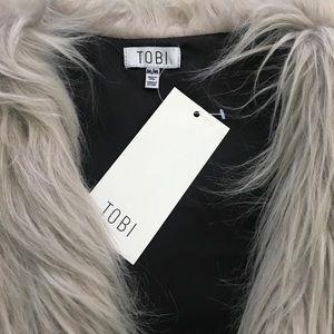 Tobi Jackets & Coats - Faux Fur Ombré Vest