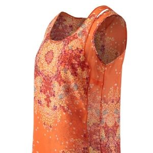 Cabi Merrow Edge Orange Top