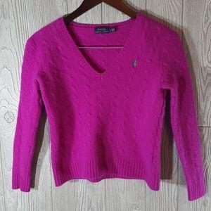 RL loganberry Merino wool &cashmere sweater
