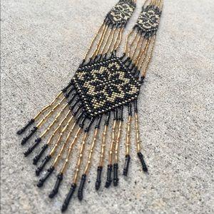 Jewelry - Vintage Handmade Boho Bead Necklace.