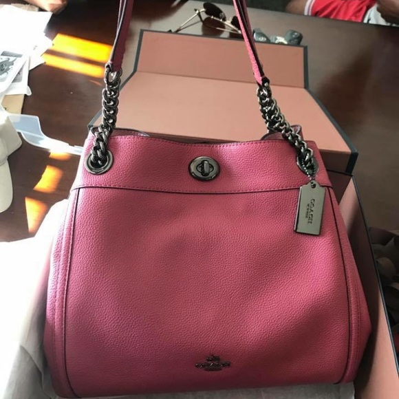 97b70e305 Coach Bags | Brand New Turnlock Edie Tote Pebble Leather | Poshmark