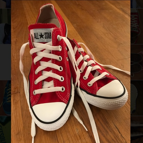 8233b3a2e632 Converse Shoes - Red low top converse