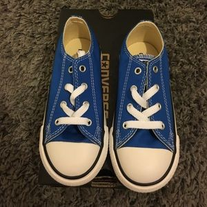 Brand new in box blue converse