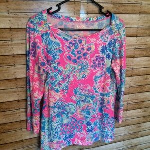 Lilly Pulitzer Tops - LILLY PULITZER SZ L 3/4 SLEEVE SHIRT BLOUSE TOP