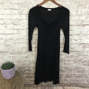 Black see through maternity dress