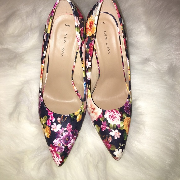 Shoes | New Look Uk Floral Pumps | Poshmark