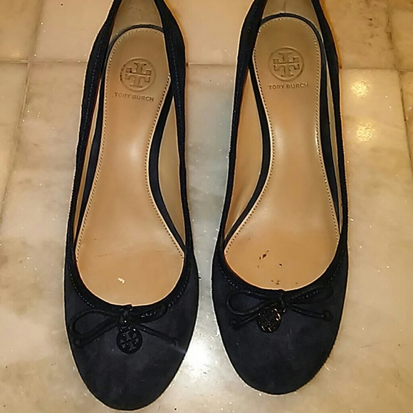 78304be4059749 Tory Burch Chelsea bright navy wedges. M 598a6f7f4e95a3fcd5010595