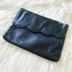 Minimalist navy blue clutch