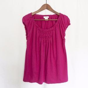 Kate Hill Fuchsia Short Sleeve