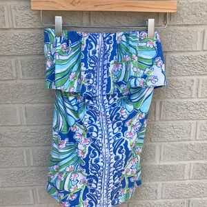 7582c7e3963 Lilly Pulitzer Tops - NEW Lilly Pulitzer Wiley Ruffle Bay Blue Tube Top