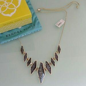 Kendra Scott Berniece necklace navy crackle