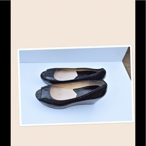 Michael Kors peep toe wedges