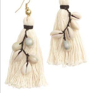 H&M Jewelry - H&M Tassel Seashell Earrings