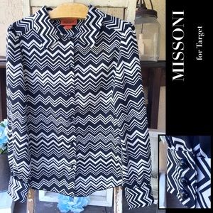 CHEVRON Missoni Button Down Collared Top byTarget