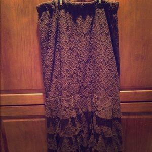 🔥 Sale !! Brown ruffle skirt -