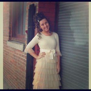 🔥sale!! Dainty Jewell Dream Dress in Cream xl